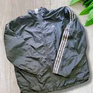 Vintage Adidas Track Jacket Three Stripe Full Zip windbreaker jacket XL XXL 2XL